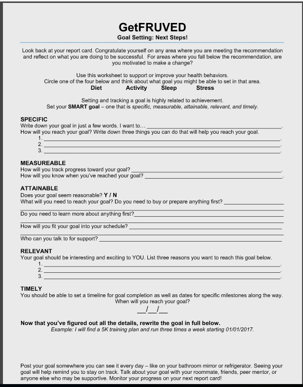 Goal Setting Worksheet Getfruved. Worksheet. Goal Setting Worksheet At Mspartners.co